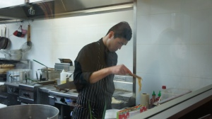 head chef in action